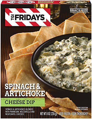 Tgi Fridays Spinach And Artichoke Cheese Dip 8 Oz Frozen Spinach Artichoke Cheese Dip Yummy Appetizers