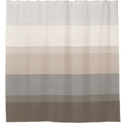 Chic Taupe Cream And Gray Striped Shower Curtain