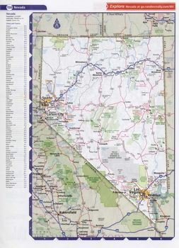 Nevada Road Atlas Atlas Of Highways And Large Cities Of The State - Road map of nevada
