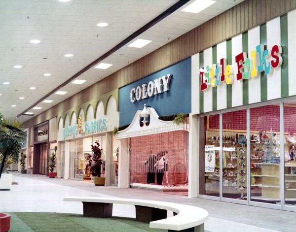 Interior View In The Northwood Mall On Opening Day Tallahassee Florida Vintage Mall Tallahassee Mall