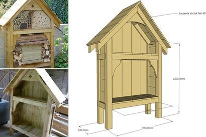 fabriquer un h tel a insectes jardin fleuri pinterest. Black Bedroom Furniture Sets. Home Design Ideas