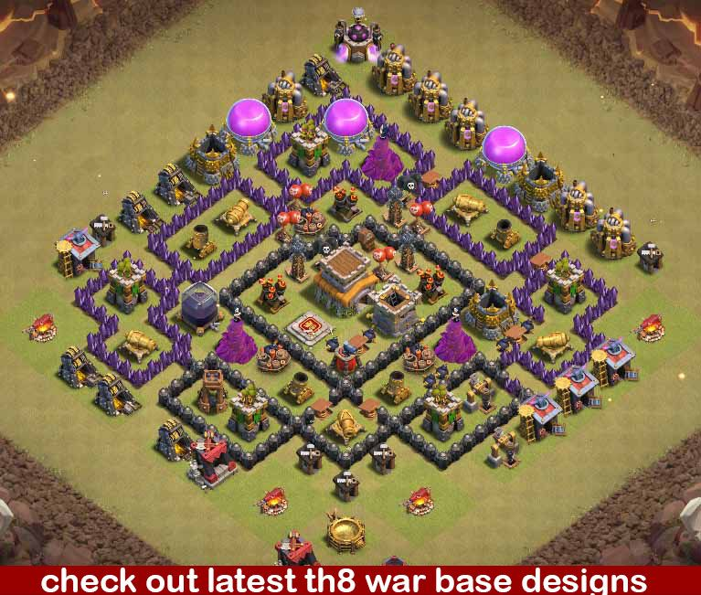 32 Best Th8 War Base Links 2021 New Anti Dragons Clash Of Clans Game Base War