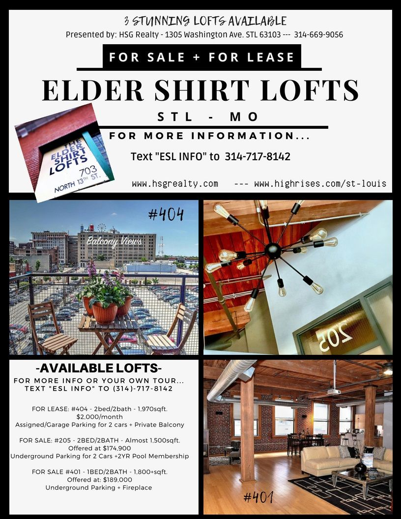 Elder Shirt Lofts 703 N 13th St Downtown St Louis Hsg Realty