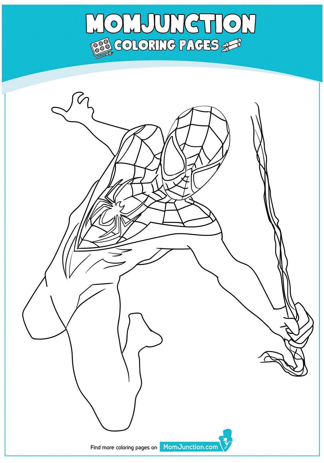 Coloring Page Spiderman Coloring Avengers Coloring Pages Miles Morales Spiderman