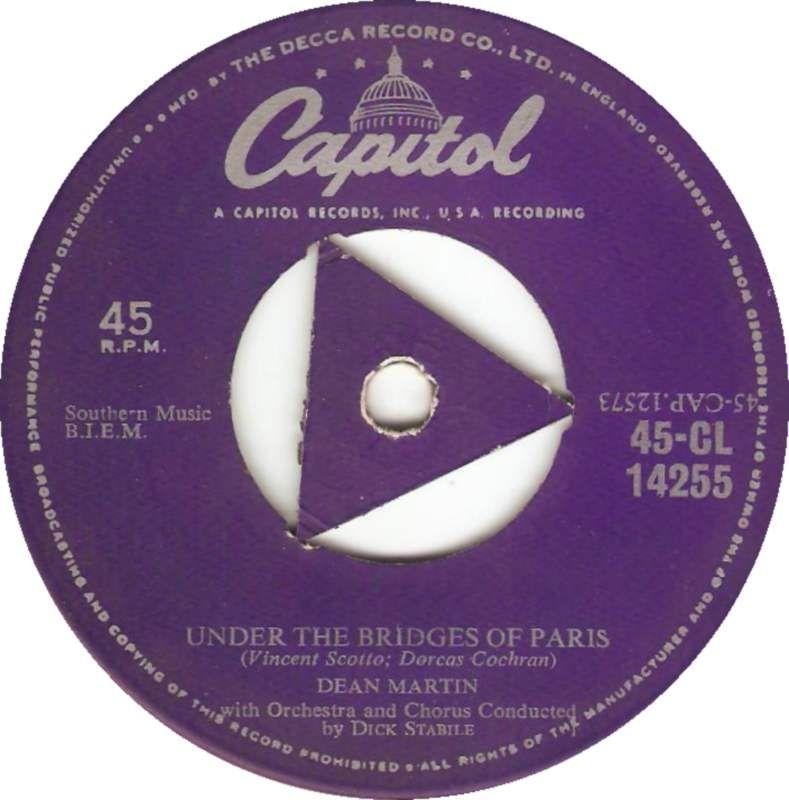 Capitol 45 Cl 14255 Dean Martin Under The Bridges Of