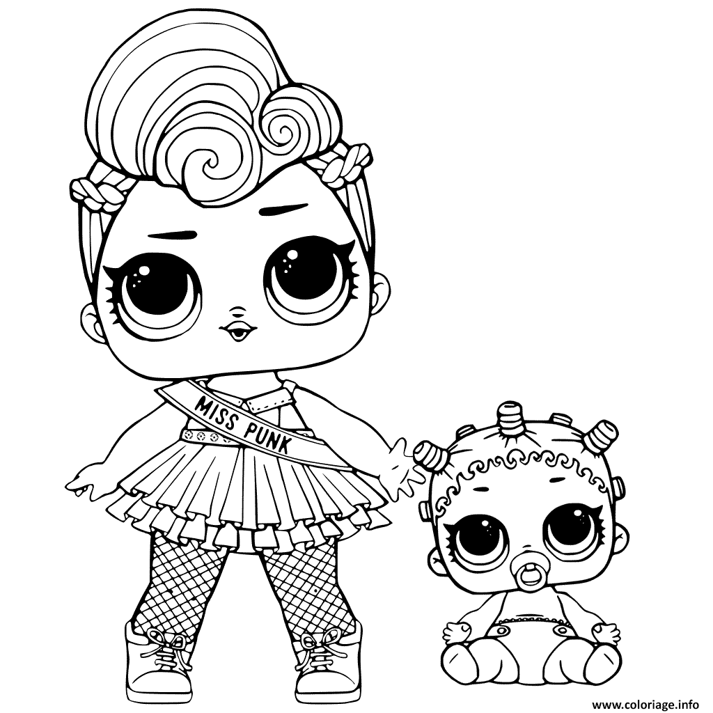 Coloriage Lol Surprise And Lil Sisters à Imprimer Dolls