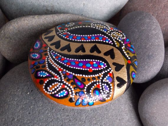 Queen of Hearts / River of Love / painted rocks by LoveFromCapeCod