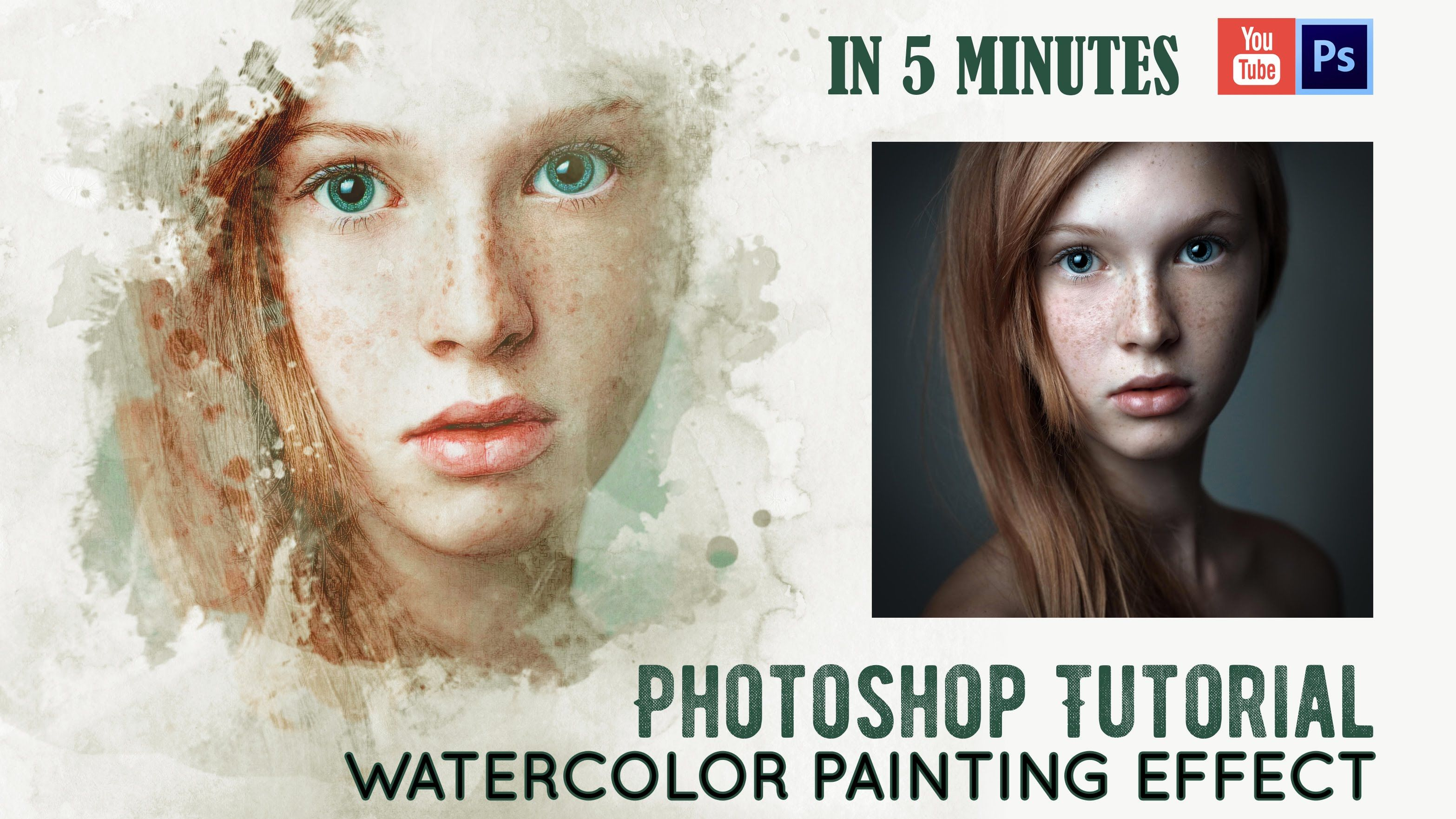 Photoshop Tutorial Photo Manipulation Watercolor Painting