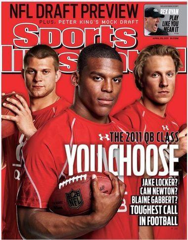 Blaine Gabbert Sports Illustrated Jake Locker 2011 Cam Newton April 25