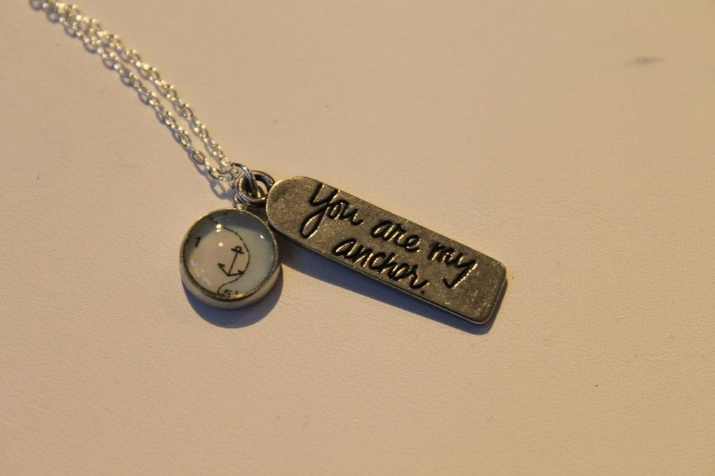 """You Are My Anchor"" Pewter necklace"