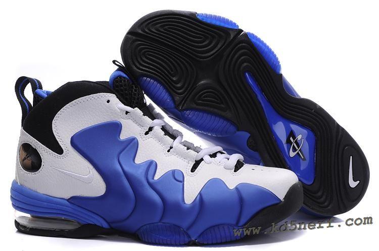 Nike Air Penny Retro White Varsity Royal - Penny Hardaway Shoes