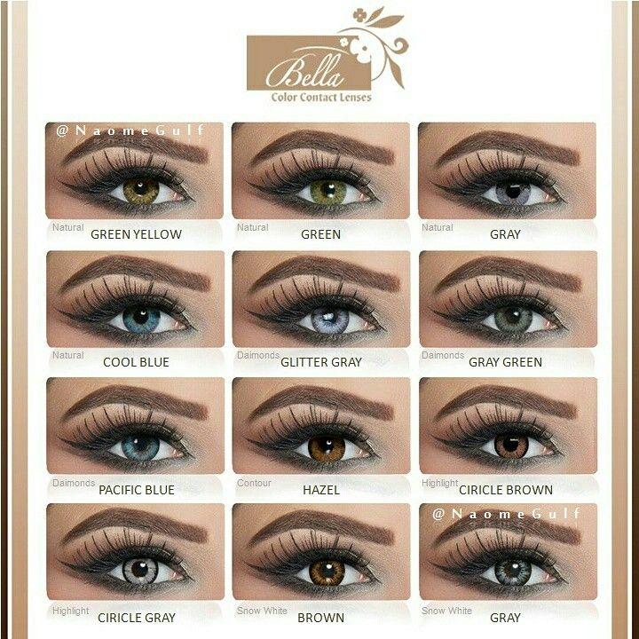 عدسات بيلا مصنوعة من مادة البوليماكون هذه المادة تساعد على ثبات العدسه وتمكن من توصيل الاوكسجين للعين يعتبر خيار ممت Brow Makeup Eye Makeup Makeup