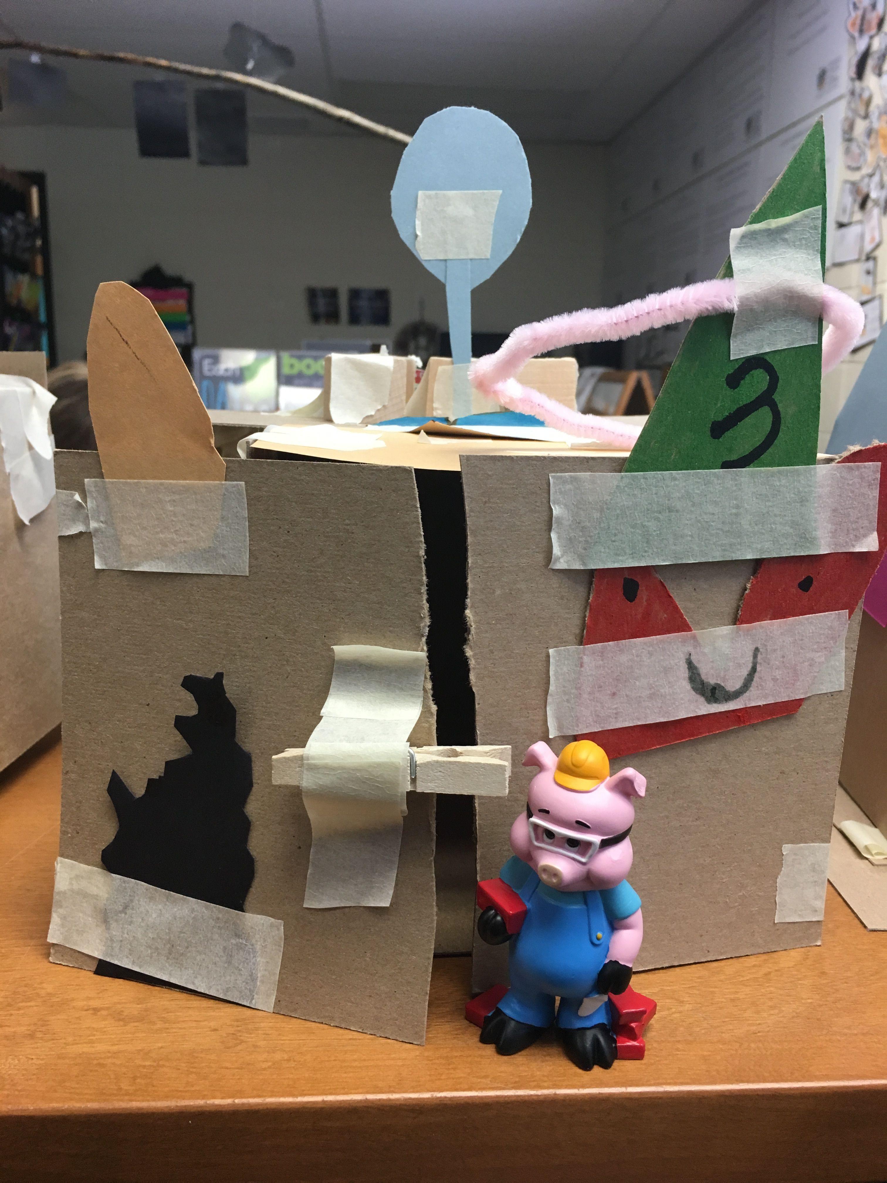 Kindergarten Stem 3 Little Pigs Challenge Houses