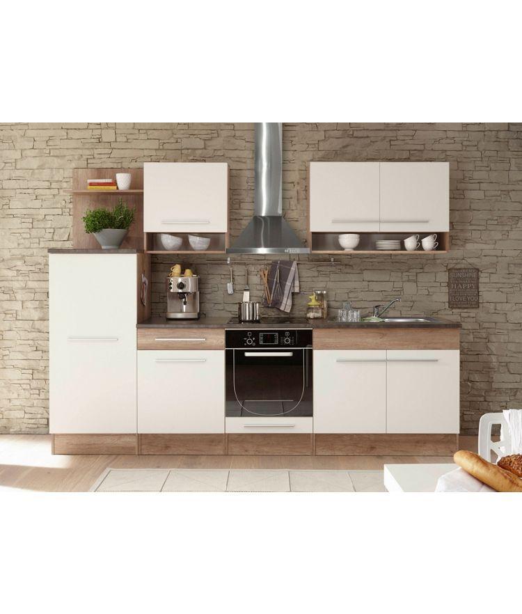KÜCHENBLOCK - Eichefarben/Weiß, MODERN (280/204/60cm) - XORA Küche