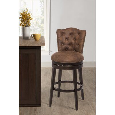 Thoma Bar Counter Swivel Stool Upholstery Chestnut Seat Height