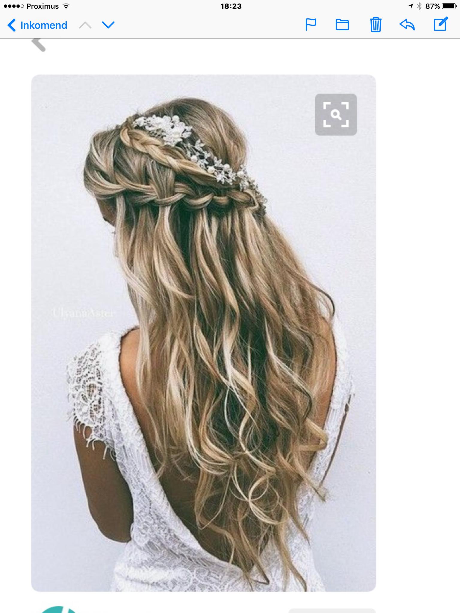 Kapsel bruidsmeisje jill haar en schoonheid pinterest