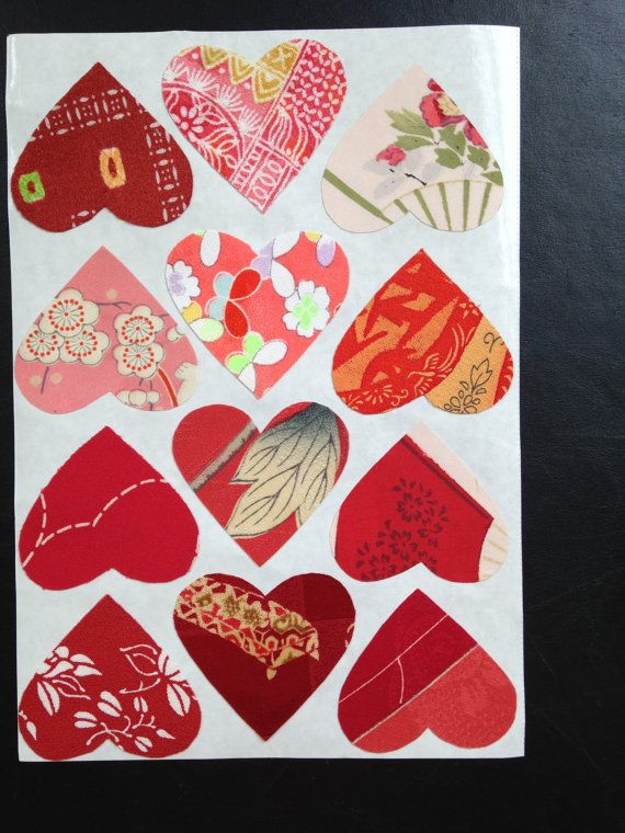 Silk fabric stickers  Make your own cards   Kimono by KIMONOCARDS