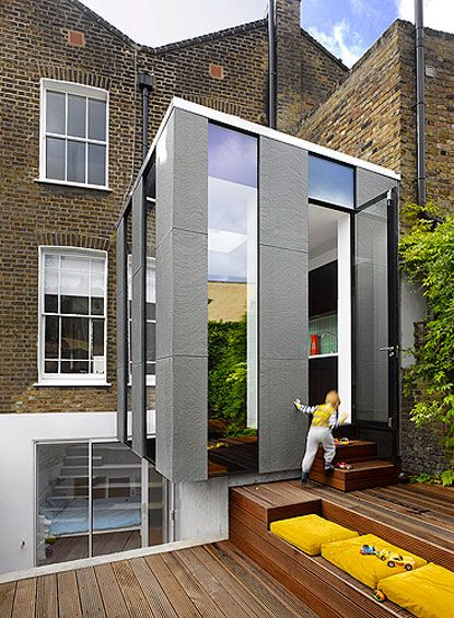 Extension inside outside also fachada techo cielos estructura rh pinterest