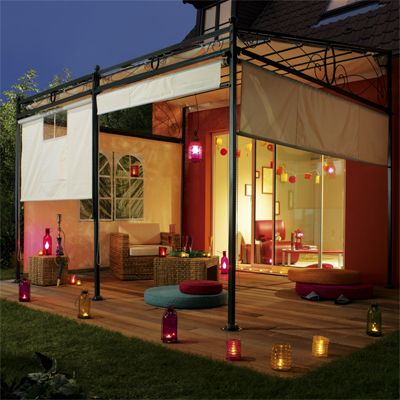 Terrasse colorée Home ideas Pinterest Store roulant, Structure - Cuisine Exterieur Leroy Merlin