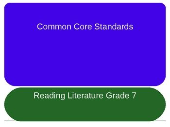 Free ~ Common Core Standards for Reading Literature PowerPoint ~ Gr. 7