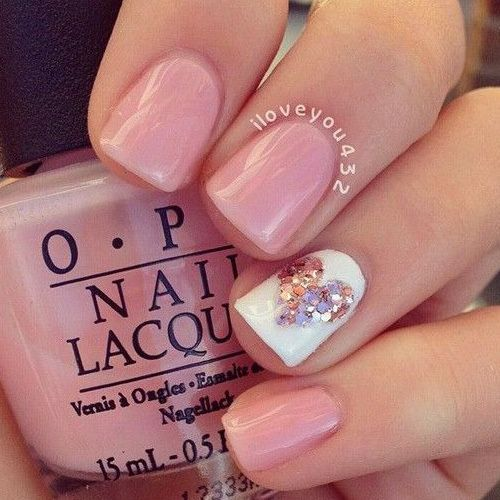 simple Valentine's nails design / nailart using OPI