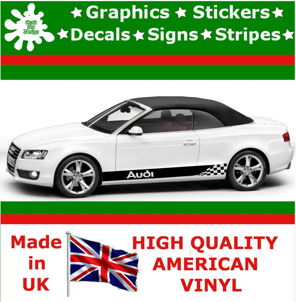 Audi Stripes Car Sticker Large Set Kit Vinyl Graphics Decal Racing - Car sticker decals