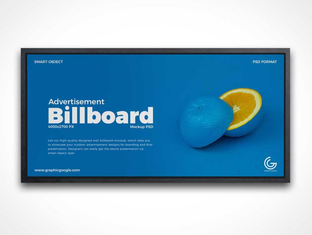 Google Image Result For Https Www Psdmockups Com Wp Content Uploads 2019 02 Indoor Framed Billboard Advertis Billboard Advertising Billboard Billboard Mockup