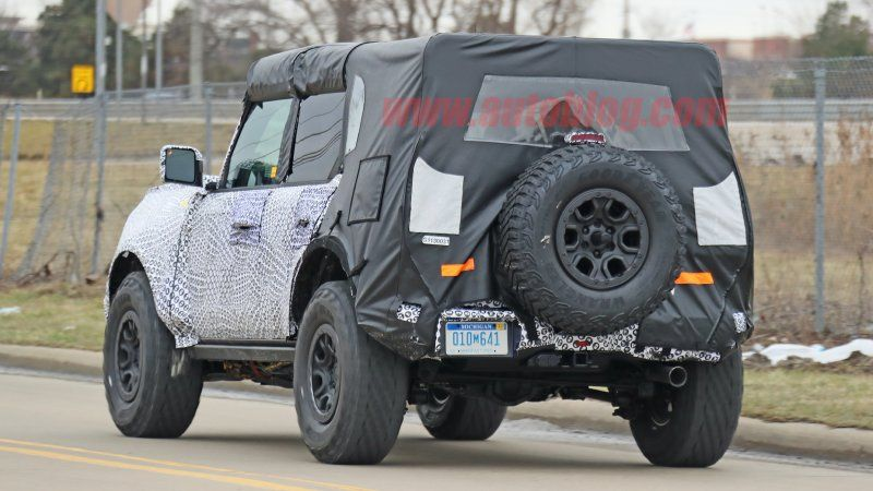 The 2020 Ford Bronco Has Been Spied Again This Time With Big Tires Ford Bronco Wheels Tires Goodyear Wrangler