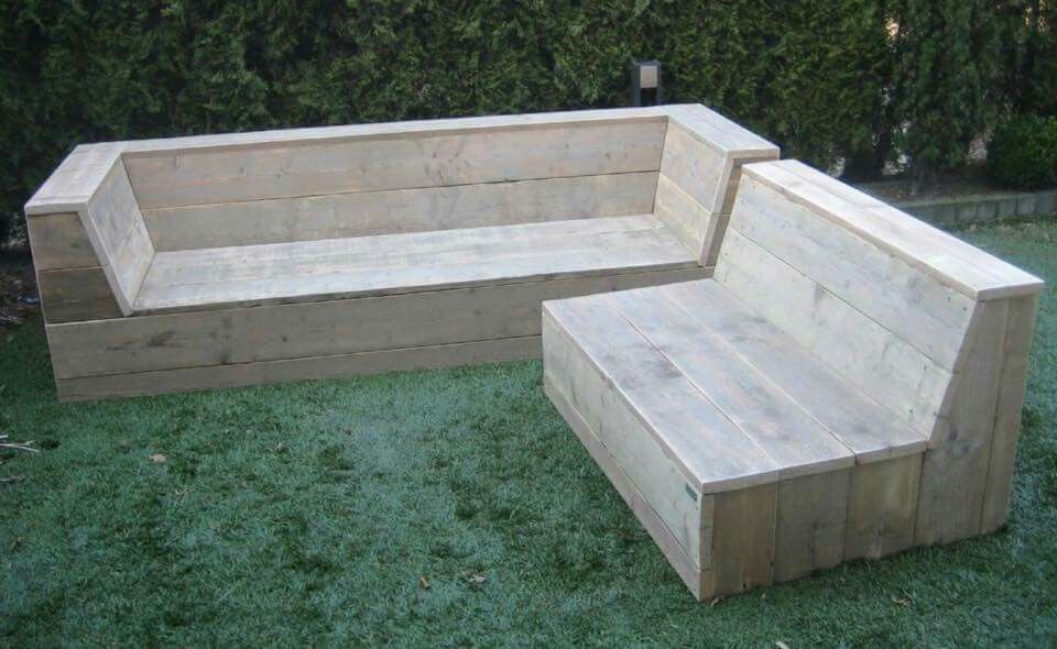 reclaimed bench seating garten pinterest m bel garten und outdoor m bel. Black Bedroom Furniture Sets. Home Design Ideas