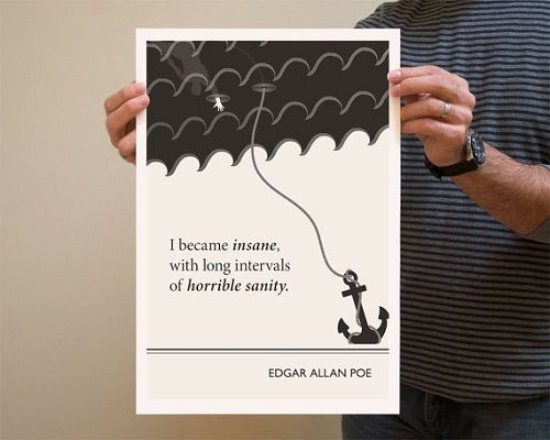 Illustrator Creates Posters Of Literature Quotes Made By Famous Authors    DesignTAXI.com