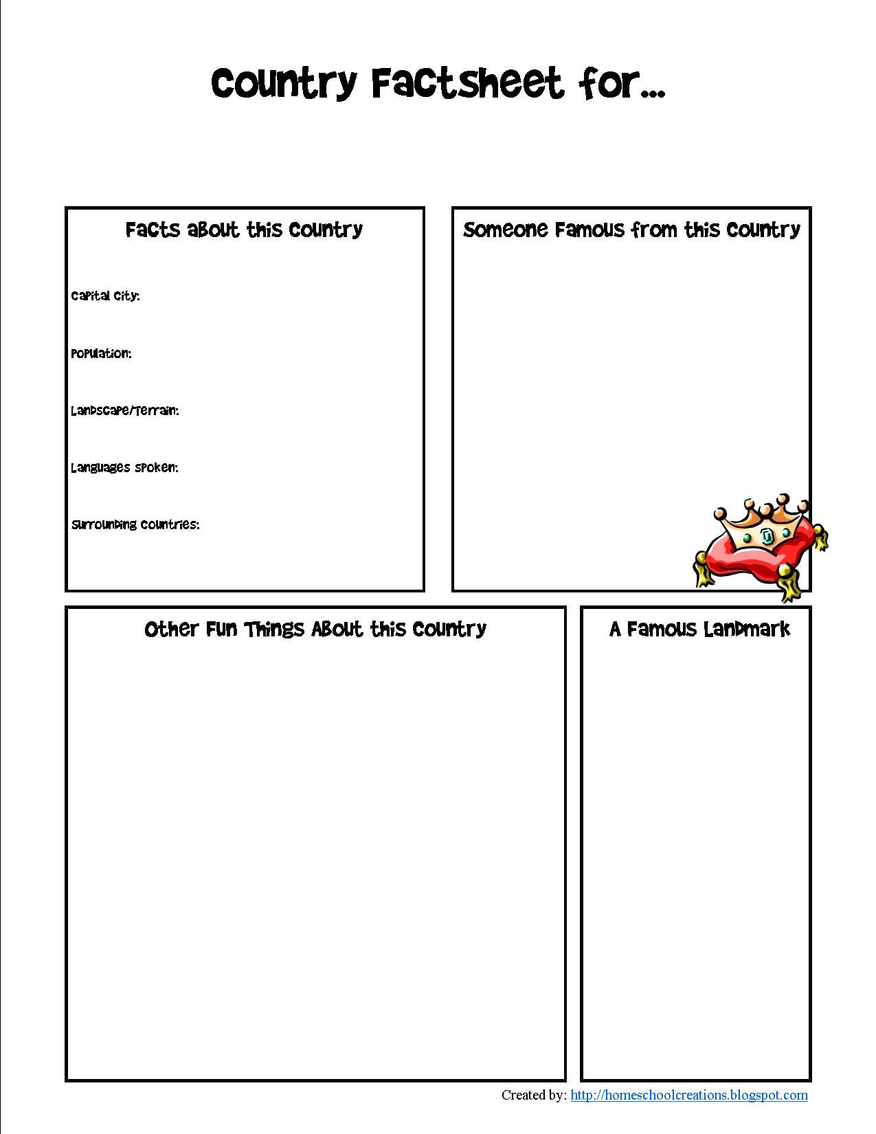 France For Kids Printables