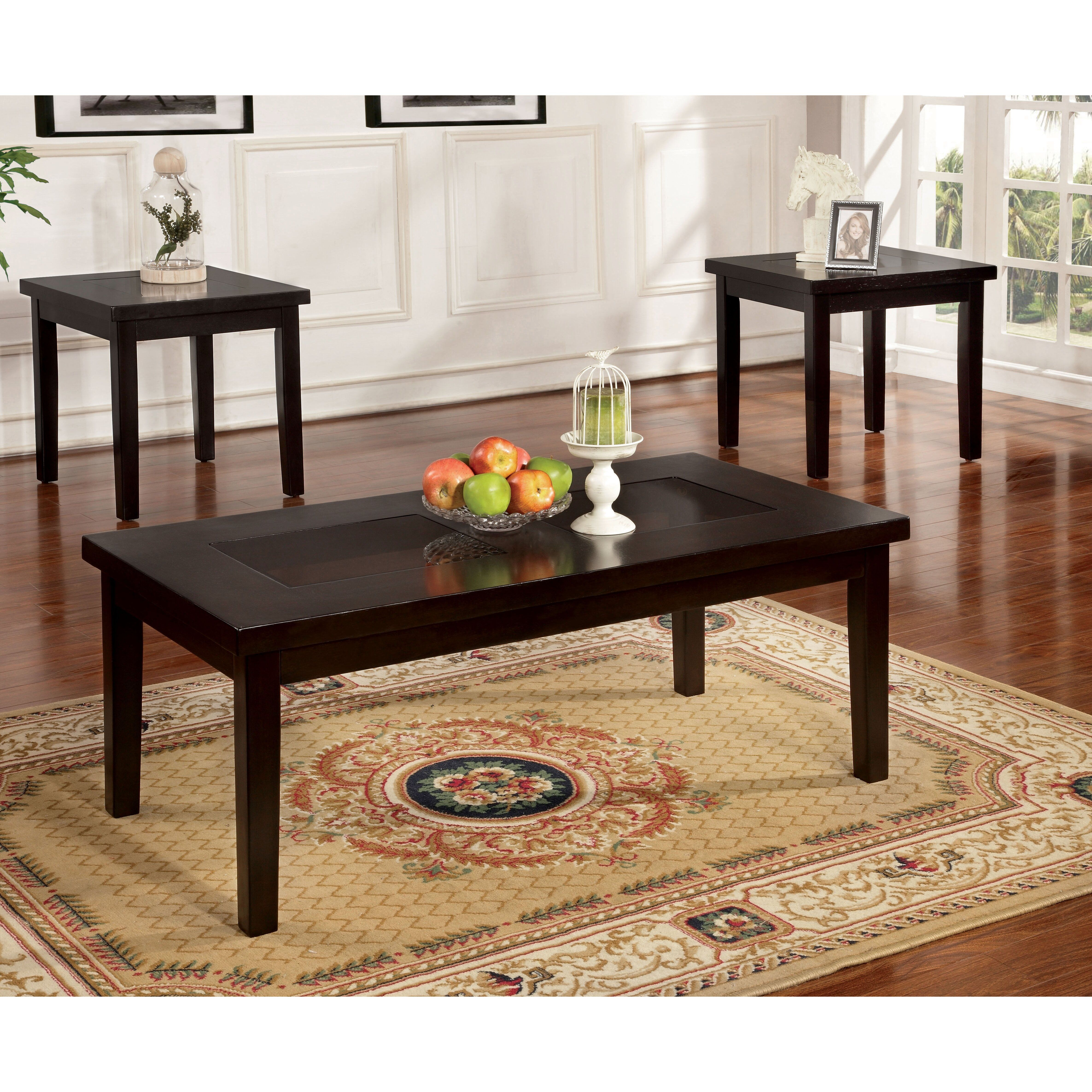 Top Wayfair Coffee Table Sets Coffee Table 3 Piece Coffee Table Set Furniture Of America [ 4742 x 4742 Pixel ]