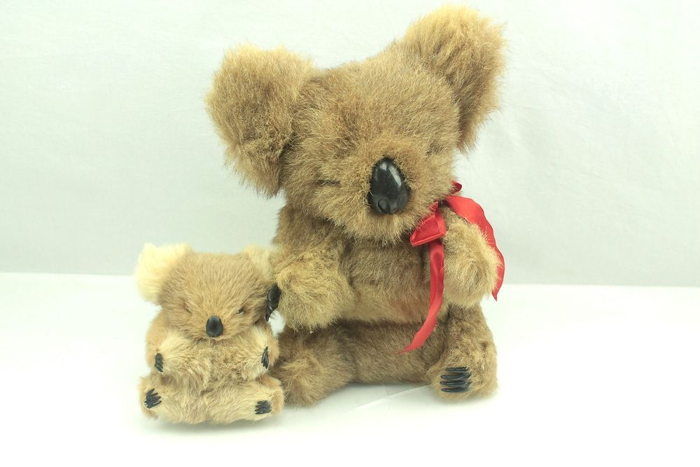 Vintage Real Fur KOALA Bear Lot Plush Stuffed Animal Toy # ...