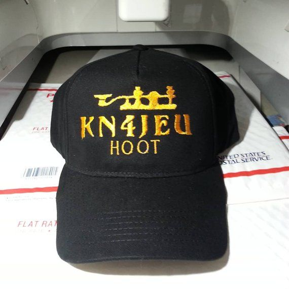 74e8607d78a65 HAM RADIO Hat H17A - Classy Custom Embroidered Hat in CRUSHPROOF Box with  Ham Call - Ham Radio Gift Hat Cap