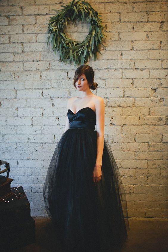 25 raffinierte schwarze brautkleider zu stehen | kostüm