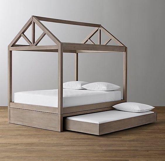 Image Result For Diy Kids Canopy Bed Frame Quartos Cama Casinha