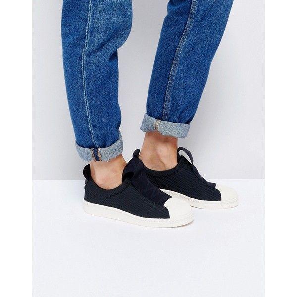 Adidas Originals Superstar Slip zapatillas negro con correa en negrita