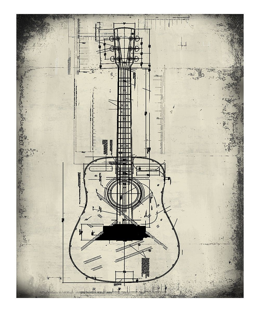 Ptm images guitar blueprint wall artoffice or mancave home ptm images guitar blueprint wall artoffice or mancave malvernweather Choice Image