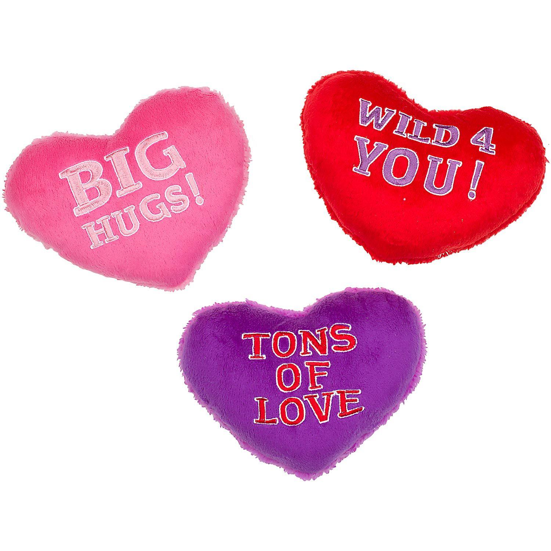 Petco Valentine Conversation Heart Plush Dog Toy Valentine Plush Valentines Conversation Hearts Heart Plush