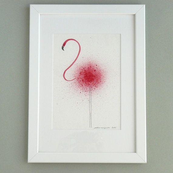 Flamingo   Kunst Original Tiersammlung   Jetzt Größer Exklusive Neue  Kollektion Von Original Illustrationen