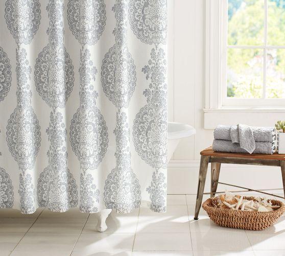 Lucianna Medallion Shower Curtain | Pottery Barn | Bath | Pinterest ...