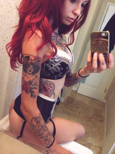 redhead tattoos Captions with