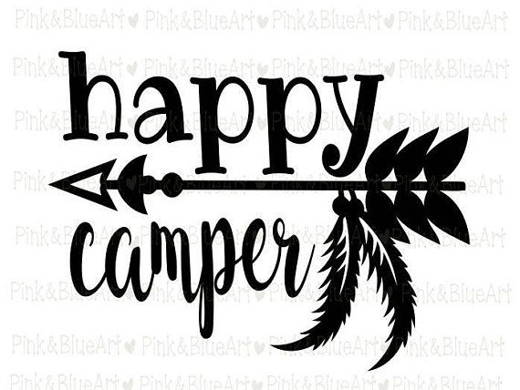 Happy Camper SVG Clipart Cut Files Silhouette Cameo Svg For