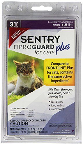 3count Kills Fleas Flea Eggs Flea Larvae Ticks Fiproguard Plus For Cats Over 15 Lbs You Can Find More Cat Fleas Cat Fleas Treatment Tick Treatment For Cats