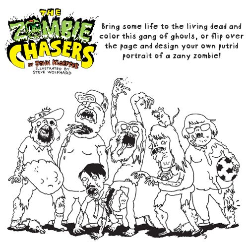 Coloring With Zombies Book Activity Kids