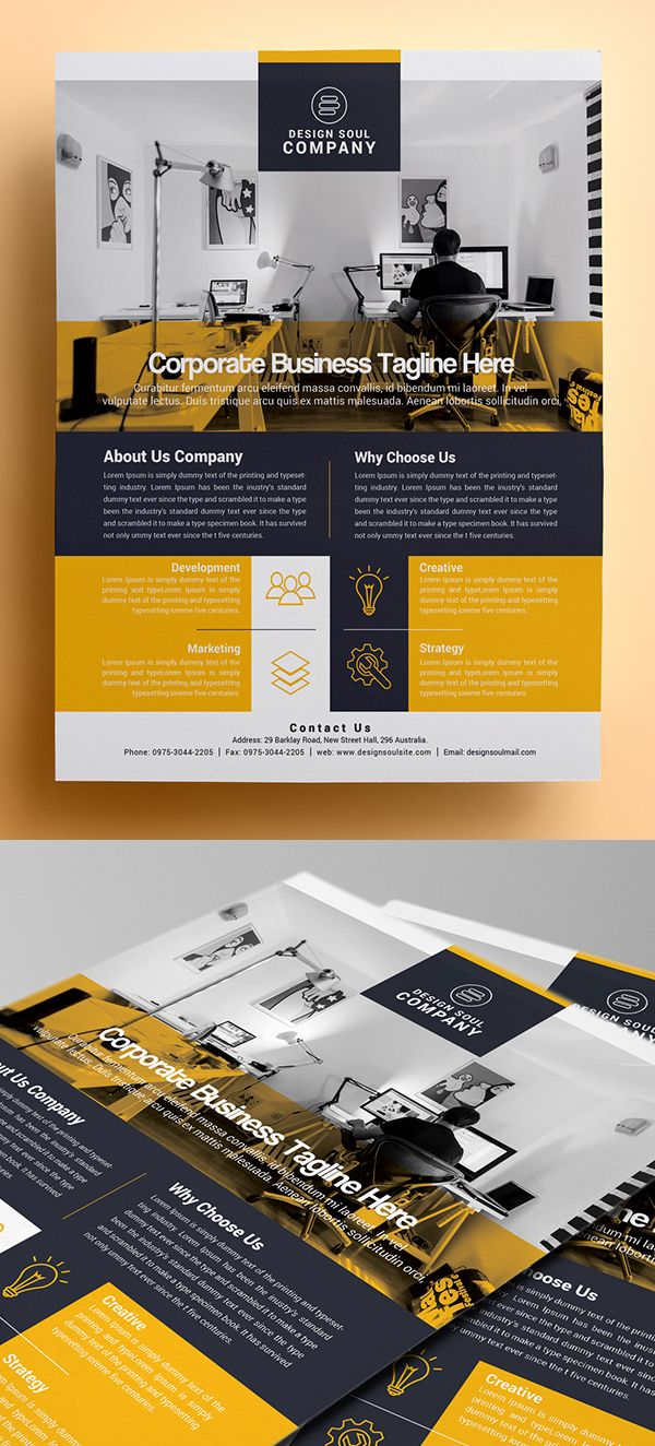 Corporate Photoshop Flyer Template #design #flyerdesign ...