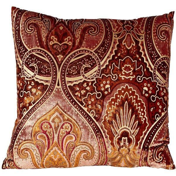 Crushed Velvet Bold Burgundy 40 Square Down Throw Pillow 40 KWD Best Down Decor Pillows