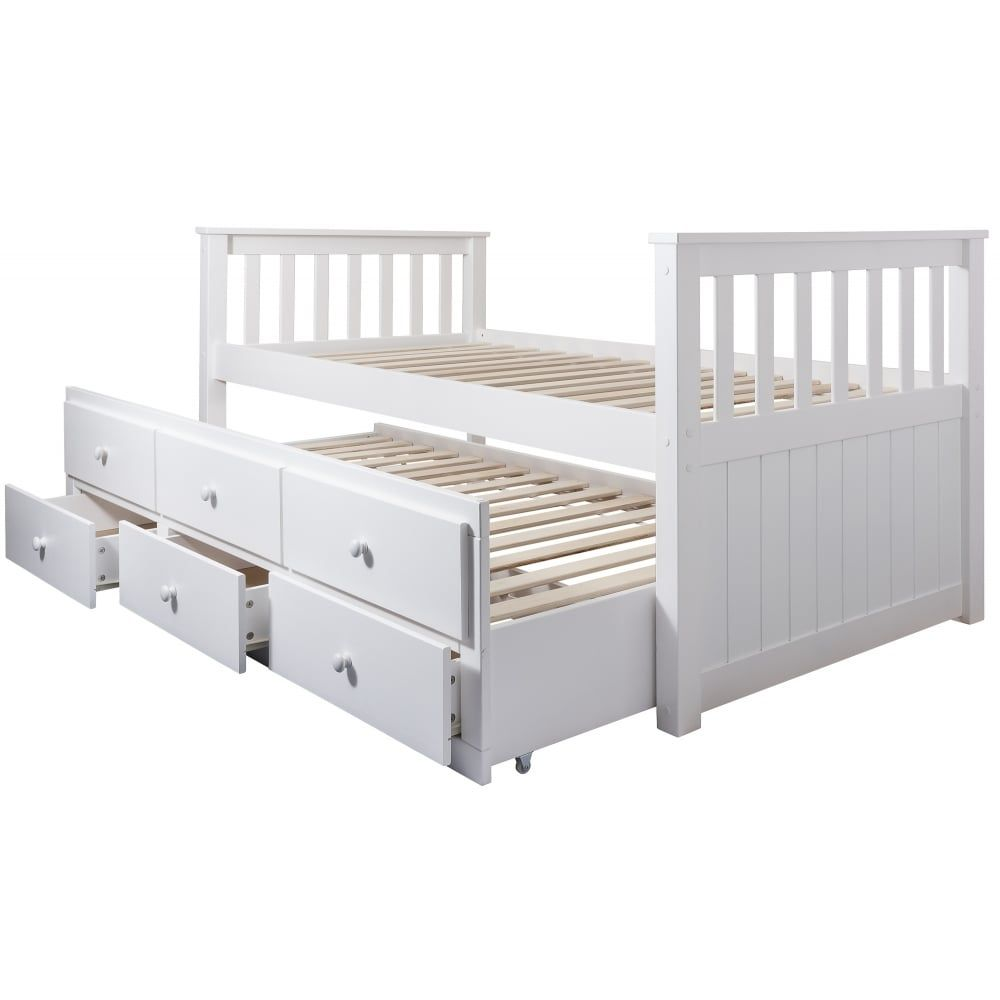 Day Bed Loki Single Bed With Pullout Drawers And Trundle Under Bed