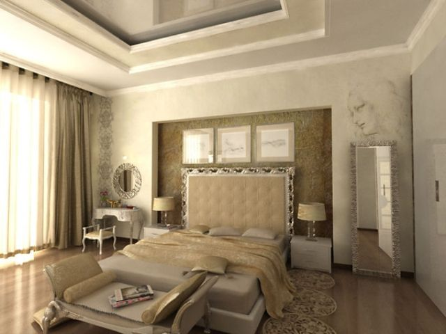 Elegant Modern Classic Bedroom Design Love the giant head