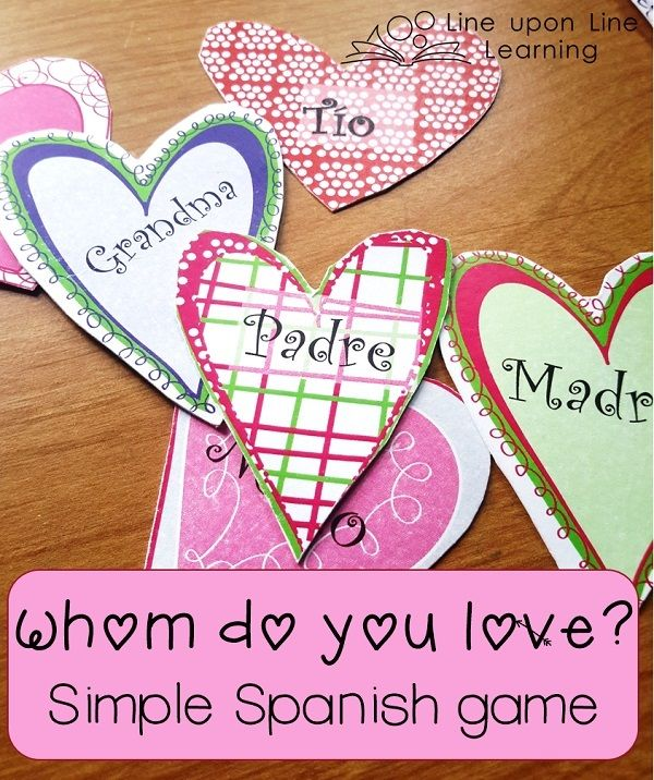 Simple Spanish Valentine Activity for Beginning Spanish Class ...